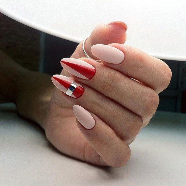 Форма ногтей миндальная