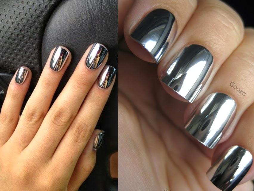 Ногти цвета металлик