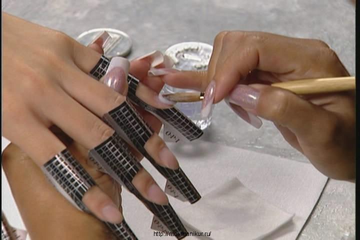 наращивание ногтей формы